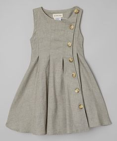 Take a look at this Green Rose Button-Up Dress - Toddler on zulily today!