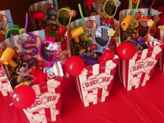 Party favors for the Circus Party