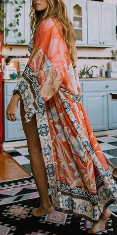 Boho 1960/'s Maxi Hippie Dress India Style Gauze and Velvet High Fashion Hand Stiched Details Free Flowing Oversized Bottom Size S