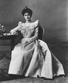 28279e586342 Princess Kaiulani seated wearing dress with embroidered bodice for a formal  picture, 1897