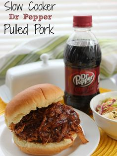 Pepper Pulled Pork Slow Cooker Dr Pepper Pulled Pork- AMAZING flavors in this easy crock-pot meal. Plus it's super easy!Slow Cooker Dr Pepper Pulled Pork- AMAZING flavors in this easy crock-pot meal. Plus it's super easy! Crock Pot Slow Cooker, Slow Cooker Recipes, Cooking Recipes, Slow Cooker Pork Loin, Crockpot Bbq Pork Loin, Slow Cooker Pulled Pork Recipe, 5 Ingredient Crockpot Recipes, Easy Crock Pot Meals, Spinach Recipes