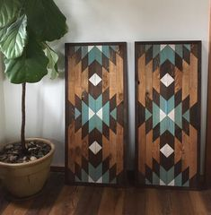 Reclaimed Wood Wall Art - Southwestern Wood Wall Decor - Inspired by Navajo Art - Wood Decoration Reclaimed Wood Wall Art, Wood Wall Decor, Wooden Wall Art, Diy Wall Art, Wood Art, Room Decor, Diy Wood Projects, Wood Crafts, Woodworking Projects
