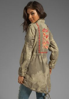 FREE PEOPLE Festival Anorak in Army Combo at Revolve Clothing - Free Shipping!