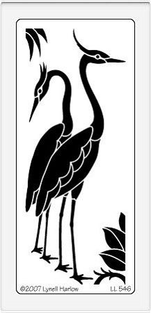 Dreamweaver Large Brass Stencil - Egrets