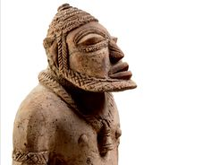 A terracotta figure from the Inland Niger Delta. The Djenné-Jeno statuary emerged in the early 2nd millennium A.D. It is one of the most ancient, elegant and sophisticated art styles of Africa. Part of the Bernard de Grunne - BRUNEAF exhibition, 8-12 June 2016 at the Ancienne Nonciature in Brussels