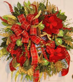 XXL Traditional Christmas Door Wreath Outdoor by LadybugWreaths,