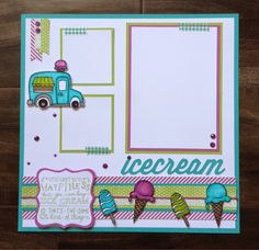 Create with Liz: Ice Cream Dream Artwork | CTMH June Stamp of the Month