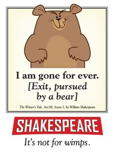 """The Bard's most famous stage direction comes to your classroom with the message """"it's not for wimps!""""I'm selling this file at a very affordable rate for teachers on a budget (which is just about every teacher I know). I ask that you limit use of this file for your immediate use and that you do not share copies of this file with others."""