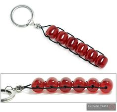 KeyringKey ChainRolling Beads  High Quality by culturetaste, $18.00