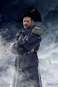 Russell Crowe as Javert.  For the record...the bicorne hat isn't silly... it's period.