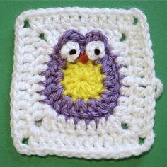 Owl Granny Square Tutorial ༺✿ƬⱤღ  http://www.pinterest.com/teretegui/✿༻