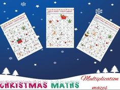 Christmas maths: Multiplication mazes