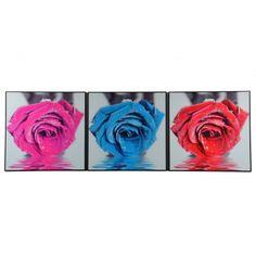 Obraz tryptyk kwiaty