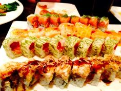 Colorful sushi rolls are popular choices at Akira Steak House & Sushi Bar in St. James