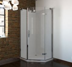 - 6 Series Frameless Pentagonal Shower Enclosure 800 X scene rectangle medium Bathroom Shower Faucets, Bathroom Fixtures, Shower Tiles, Bathroom Showers, Bathroom Ideas, Upstairs Bathrooms, Downstairs Bathroom, Corner Shower Enclosures, Luxury Shower