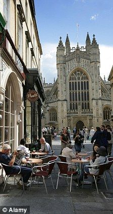 """Aurelas:  lol when I was there, I listened to someone play """"When I'm 64"""" on a musical saw and watched as someoen did a fashion shoot in front of the Abbey at the same time.  It was a bit surreal.----    Relaxing in the historic city of Bath, UK, so much history so little time!"""