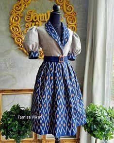 Latest African Fashion Dresses, African Dresses For Women, African Attire, Myanmar Dress Design, Ikkat Dresses, Shweshwe Dresses, Dress Pesta, Batik Dress, Traditional Dresses