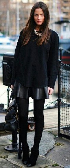 Top 10 Totally Trendy Ways to Wear Leather Shorts and Skirts in Autumn - Top Inspired