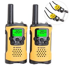 Walkie Talkies for Kids Rechargeable Walkie Talkies with NOAA Weather Alert VOX Flashlight 4 Miles Long Range FRS//GMRS Two Way Radio with Charger Batteries Best Kid Toys Gifts 3 Pack