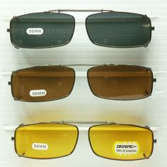 aa9ff144d1 Clip on spring sunglasses glasses rectangle fish drive metal frame 100% uv  400 Spring Sunglasses