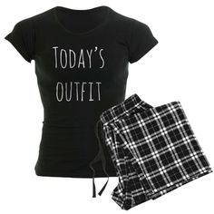 Today's Outfit. Our super soft pajamas are 100% cotton for comfort. Bottoms fit loose with string waist & no fly (black plaid & lumberjack prints are cotton flannel, all others cotton jersey). Tops are 100% c