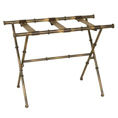 Passport Furniture Luggage Rack in Aged Gold