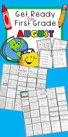 Get your new first grader ready for August! Do you need the most basic beginning skills for your first grader at the beginning of the year? This packet has 60+ pages! Get Ready to tackle First Grade AUGUST for your students or child! Basic 10 frames, simple addition, subtraction, understanding the equal sign, simple adding to subtract, Add beginning sounds, middles sounds, ending sounds, cvc sight words + more! Everything you need to Get Ready for First Grade AUGUST. #firstgrade