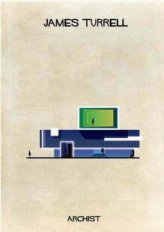 Galería - ARCHIST: Ilustraciones Famosas de Arte Reimaginadas como Arquitectura - 161