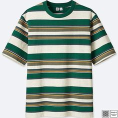 MEN U STRIPED SHORT-SLEEVE T-SHIRT GREEN large #men'spolo #men's #polo #moda #masculina