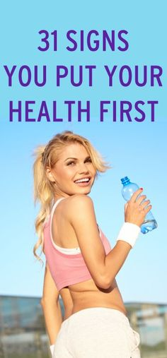 31 signs you put your health first