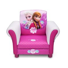 This Frozen armchair will be your child's favourite armchair. It provides a fun place to sit and watch your favourite Frozen movie. This armchair has extra touches for that designer look such as arm panels as well as detailed hearts and flowers on the seat cushion.