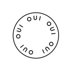 Logo design by Specht for soy candle brand Oui. Love the repetition here and the three-lettered word works well in repetition without feeling like there are too many letters.