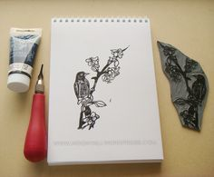 carved linoleum Notebook, Carving, Stamp, Wood Carvings, Stamps, Sculptures, Printmaking, The Notebook, Exercise Book