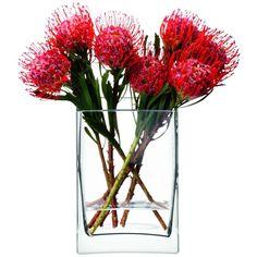 LSA Flower Rectangular Vase ($45) ❤ liked on Polyvore