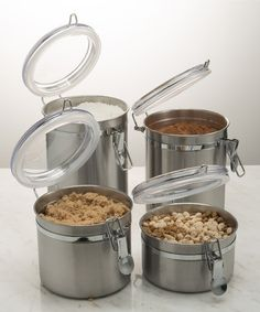 This Stainless Steel Canister Set is perfect! #zulilyfinds