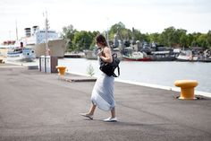 Ruisrock | Grey Maxi Dress | Smile | Converse | Summer | Jadeyolanda.fi Finland Summer, Grey Maxi, My Outfit, Converse, Smile, Outfits, Dresses, Fashion, Gray Maxi