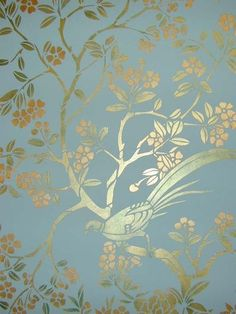 This is a detail shot of one of our Chinoiserie panel stencils. This is a detail shot of one of our Chinoiserie panel stencils. Chinoiserie Wallpaper, Chinoiserie Chic, Wall Wallpaper, Wallpaper Panels, Design Floral, Stencil Designs, Wall Design, Design Design, Painted Furniture