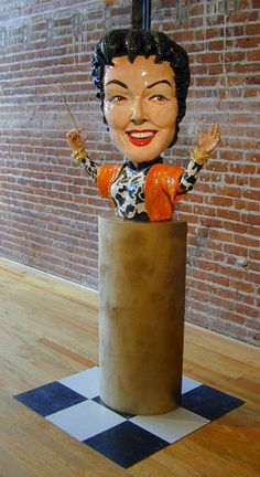 Tony Natsoulas' sculpture of Auntie Mame
