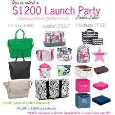 Thirty-One March $1200 Launch Party! by casey-pintaric-chan on Polyvore featuring Hostess, thirtyonegifts, thirtyone and March2015