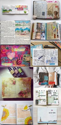 '11 Beautiful Art Journal Pages to Spark Your Creativity...!' (via Rustico Leather)
