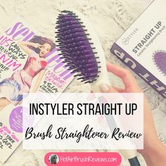 The Instyler Straight Up Ceramic Straightening Brush give smooth, straight, frizz-free hair & transform the way I straighten my hair in half the time it takes to use a flat iron. Ceramic Straightening Brush, Hair Straightening Iron, Hair Straightener And Curler, Professional Hair Straightener, Messy Ponytail, Sleek Hairstyles, How To Curl Your Hair, Love Hair, Hair Tools