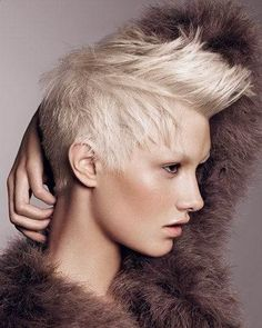 Looking Bravery in the Short Punk Hairstyles for Women: Punk Short Blonde Hairstyles ~ findmyhairstyle.com Short Hairstyles Inspiration
