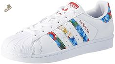 adidas Superstar W Womens Trainers White Multicolour - 4 UK - Adidas sneakers for women (*Amazon Partner-Link)