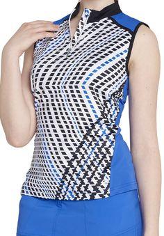 Royal & Black GGblue Ladies Nadya Sleeveless Golf Shirt available at #lorisgolfshoppe