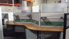 Used HM Ethospace Serpentine Layout Double Sided Seats up to 5 people with (5) Pedestals $695