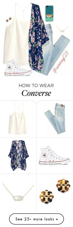 """just got this necklace omg i luv it so much"" by serenag123 on Polyvore featuring American Eagle Outfitters, H&M, Converse, Tory Burch, Kendra Scott and Kate Spade"