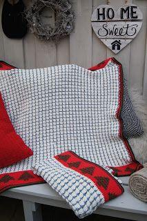 Crochet Christmas Blanket  - Kerst deken - download (English and Dutch) Crochet, pattern, haakpatroon, gratis, free, Christmas, kerst, deken, blanket