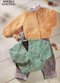 Vintage baby cardigans knitting pattern PDF DK jackets v or round neck bor. Crochet , Vintage baby cardigans knitting pattern PDF DK jackets v or round neck bor. Vintage baby cardigans knitting pattern PDF DK jackets v or . Baby Knitting Free, Baby Cardigan Knitting Pattern Free, Pattern Baby, Knitted Baby Cardigan, Knit Baby Sweaters, Cardigan Pattern, Knitting For Kids, Double Knitting, Baby Patterns