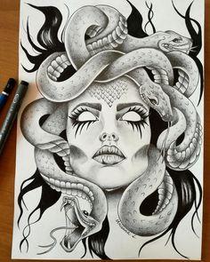 Image result for medusa tattoo design
