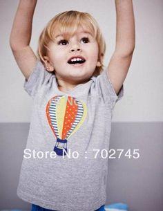 Boy T-shirts 5881 Balloon Gray Cartoon Cotton Short Sleeve T-shirts For Boy Children Clothes